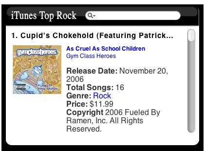 iTunes Widgets - i Find CDs